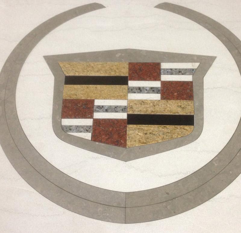 Granite Floor Inlays : Stone floor medallions custom inlays