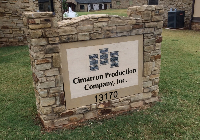 cimarron-production-granite-sign