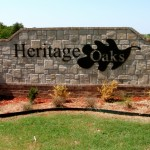 Heritage Oaks sign by granite signs of oklahoma city