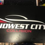 midwest city collision custom sign