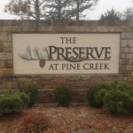 The Preserve at Pine Creek residential sign