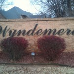 Custom sign for Wyndemere
