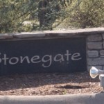 Stonegate sign made from stone